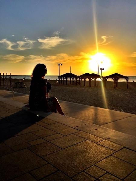 Pôr-do-sol na Orla