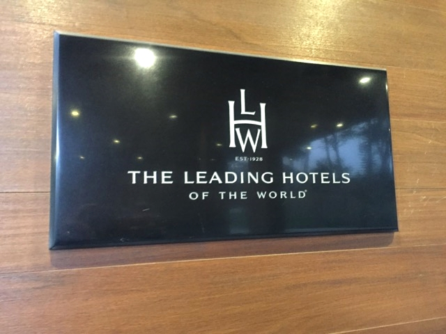 Placa da Leading Hotels of the World