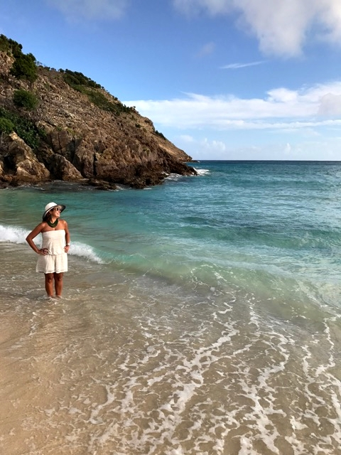 Nas praias de St Barth