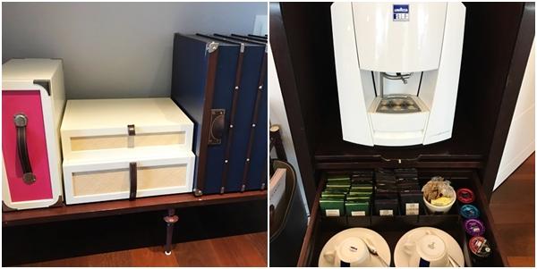 As malas de couro que revelavam uma cafeteira
