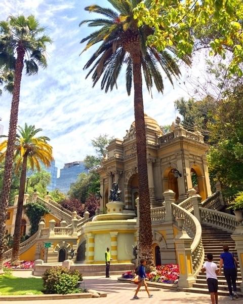 O que fazer em Santiago - Cerro Santa Lucia