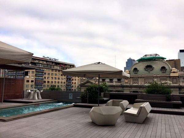O que fazer em Santiago - Cobertura do hotel Mercure