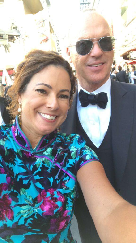 Com o ator Michael Keaton