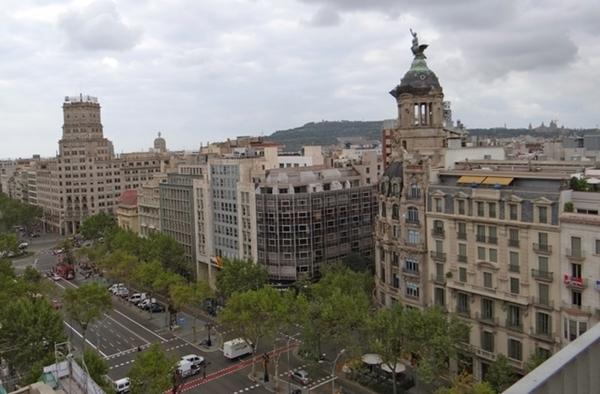 A vista de Barcelona