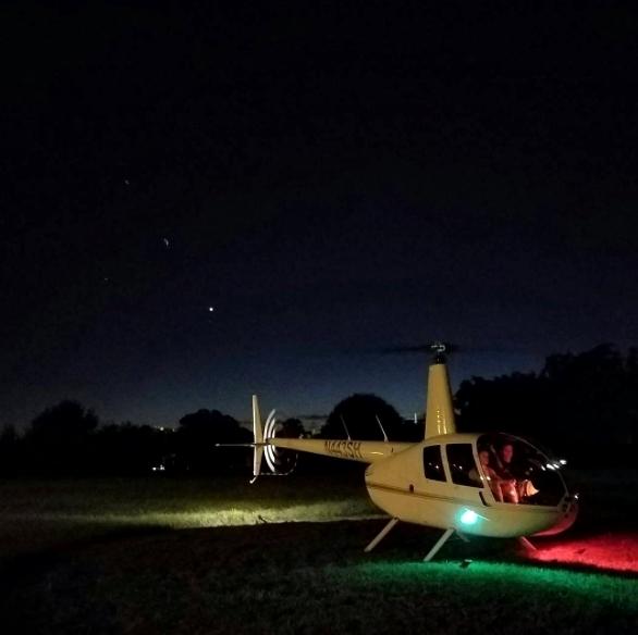 A primeira vez que voei de helicóptero