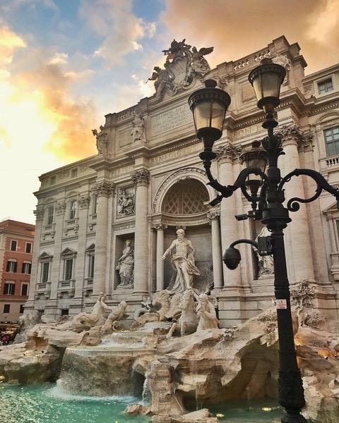 A clássica Fontana di Trevi