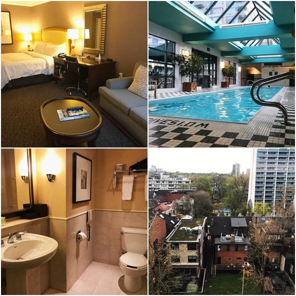 Detalhes do hotel e vista do quarto