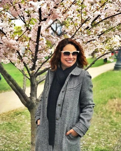 Difícil parar de tirar foto com as cerejeiras!