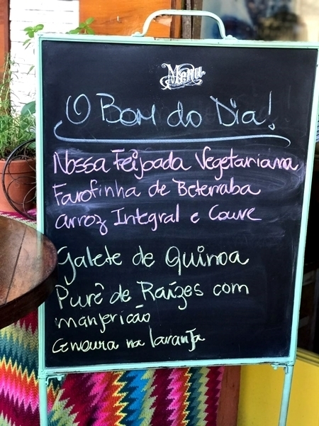 Restaurante orgânico no Rio