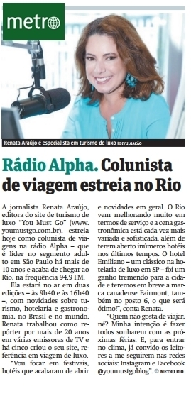 You Must Go na Rádio Alpha
