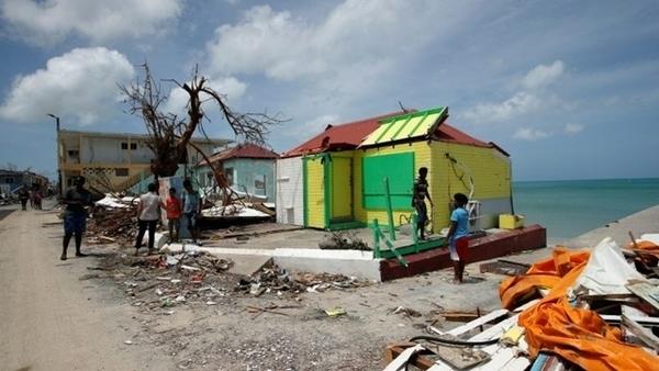 ilhas do Caribe depois do furacão