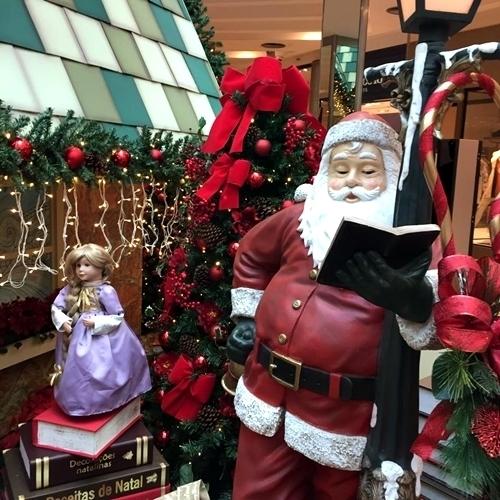decorações de Natal nos shoppings do Rio