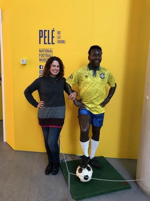 exposição sobre a carreira do Pelé