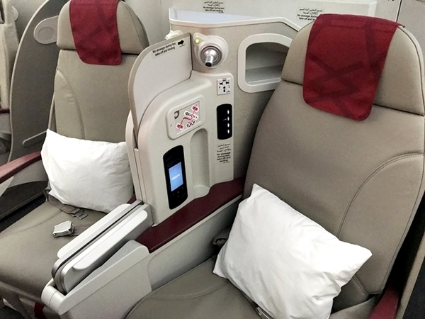 classe executiva da Royal Air Maroc