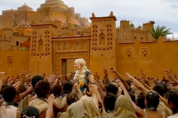 cenário de game of thrones no marrocos