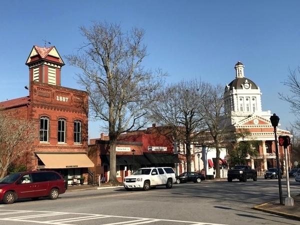 cidade histórica na Geórgia