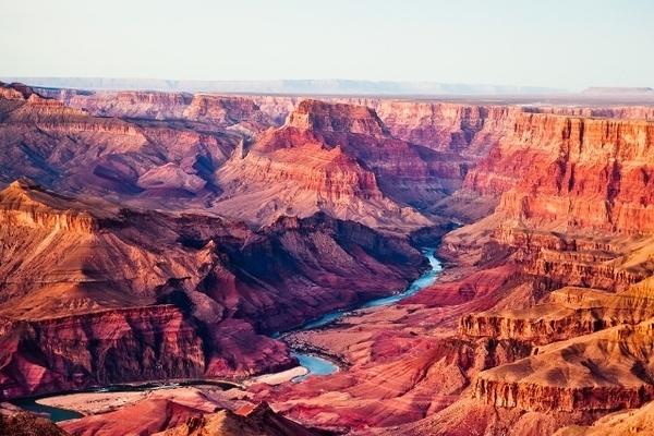 O Grand Canyon é um dos espaços naturais mais marcantes dos EUA