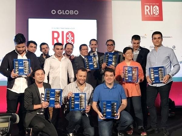Os ganhadores do Prêmio Rio Show de Gastronomia 2018