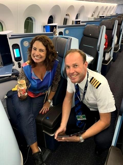 Dreamliner da KLM no voo Rio-Amsterdã