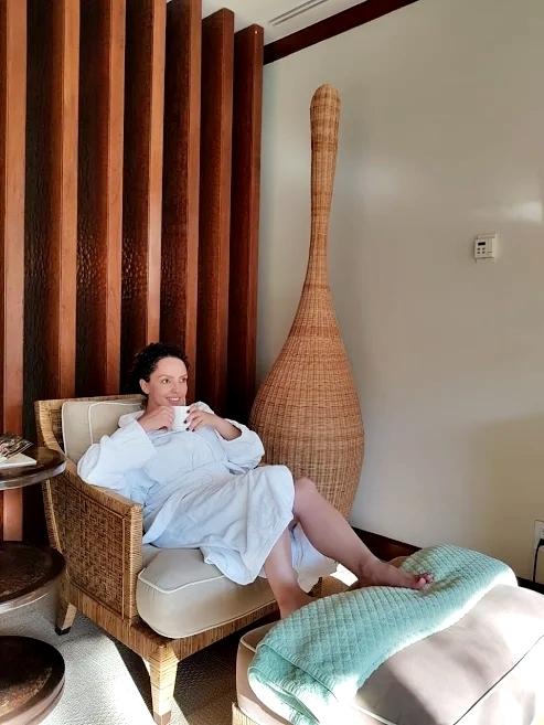 mulher no spa