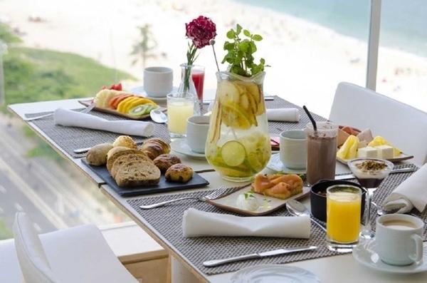 café da manhã em hotéis no rio