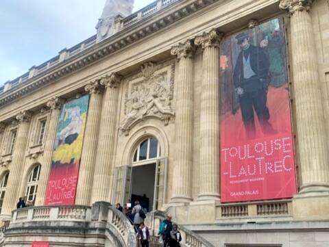 Exposição do Toulouse Lautrec no Grand Palais, em Paris