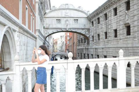 turista em Veneza