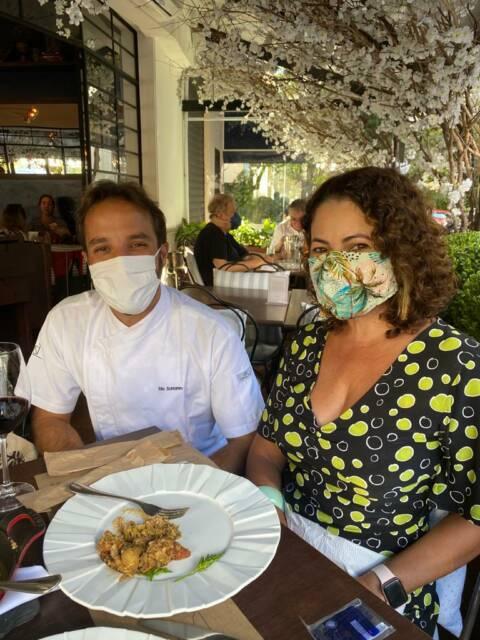 Renata Araújo e o chef do L'atelier Mimolette, Elia Schramm.