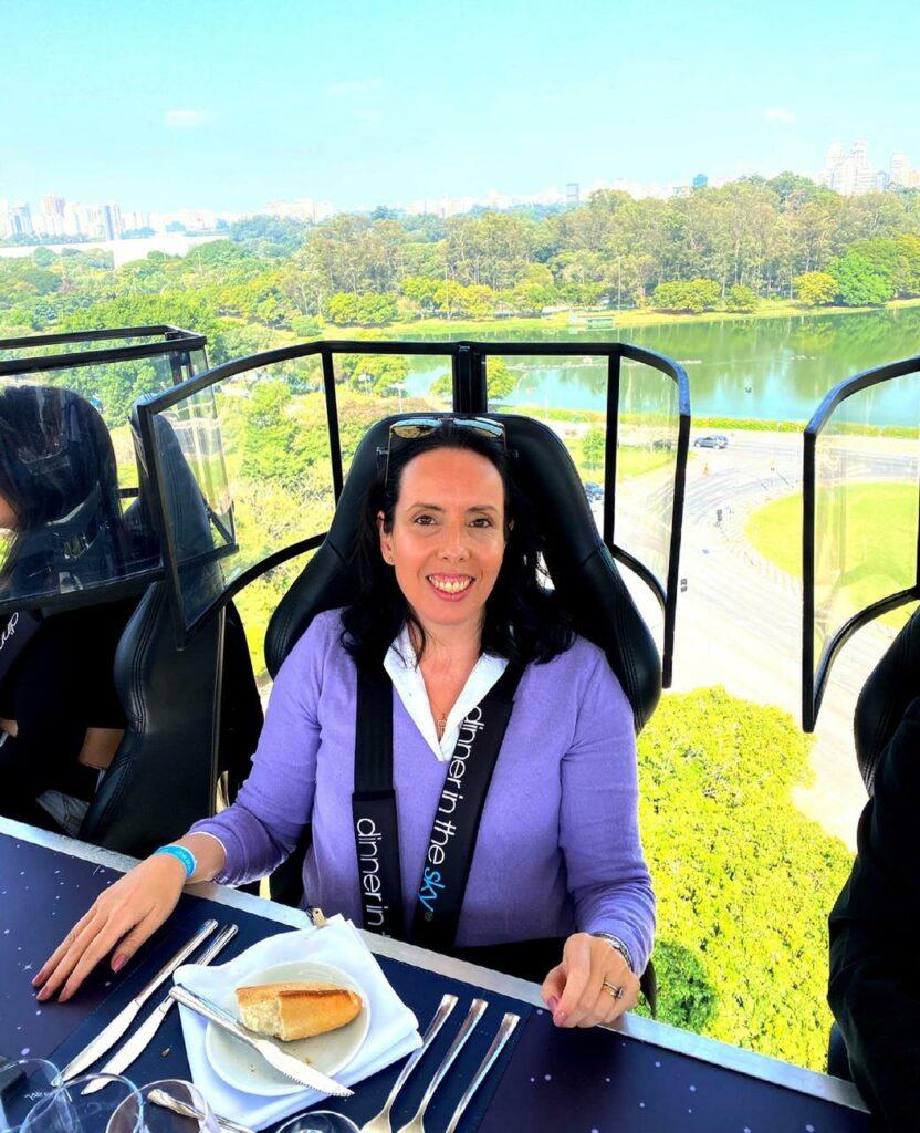Jantar nas alturas em SP, experiência da Mari Mallemont